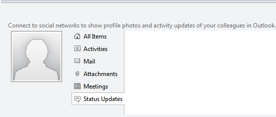 Using Outlook Social Connector in Outlook 2010
