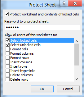 Protect Your Excel 2010 Worksheet Data