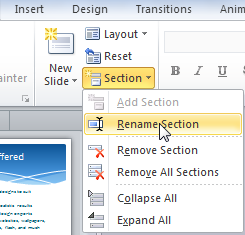 Organize your slides into sections - PowerPoint