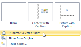 Add Slides to a Presentation by Duplicating Existing Slides