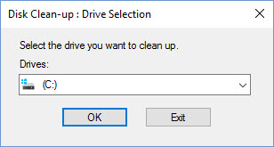 Disk Cleanup Pop up