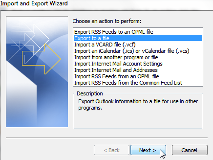 export contacts from outlook - 4