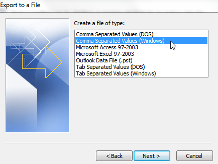 How to Export Contacts from Outlook 2010 to a CSV File