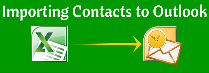 import contacts to outlook from excel