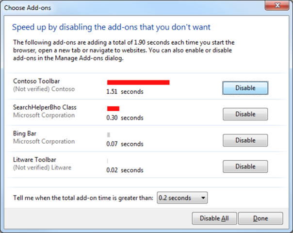 choose add on dialog box 1