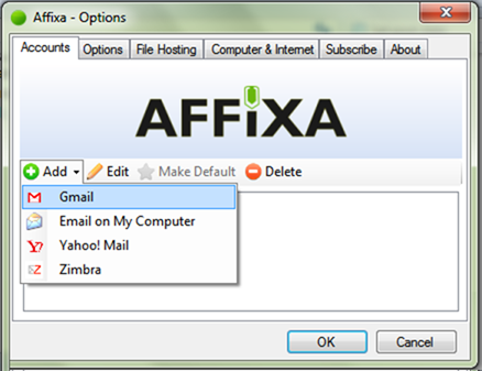 affixa options