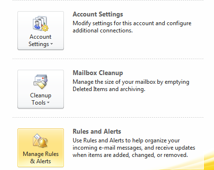 Create a Back Up Copy of Your Outlook 2010 Rules