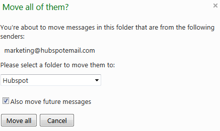 Move Hotmail messages