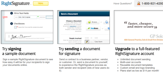 RightSignature trial