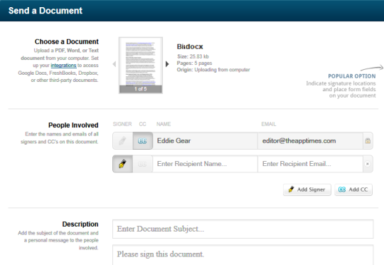 Sign and Send Documents Online