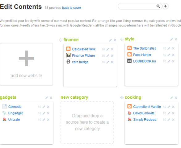 Feedly Contents