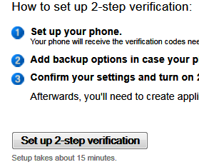 Seup 2-step verification