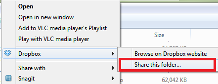 how to add files to shared dropbox folder