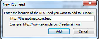 New RSS feed