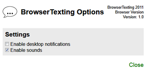 Browertexting Options