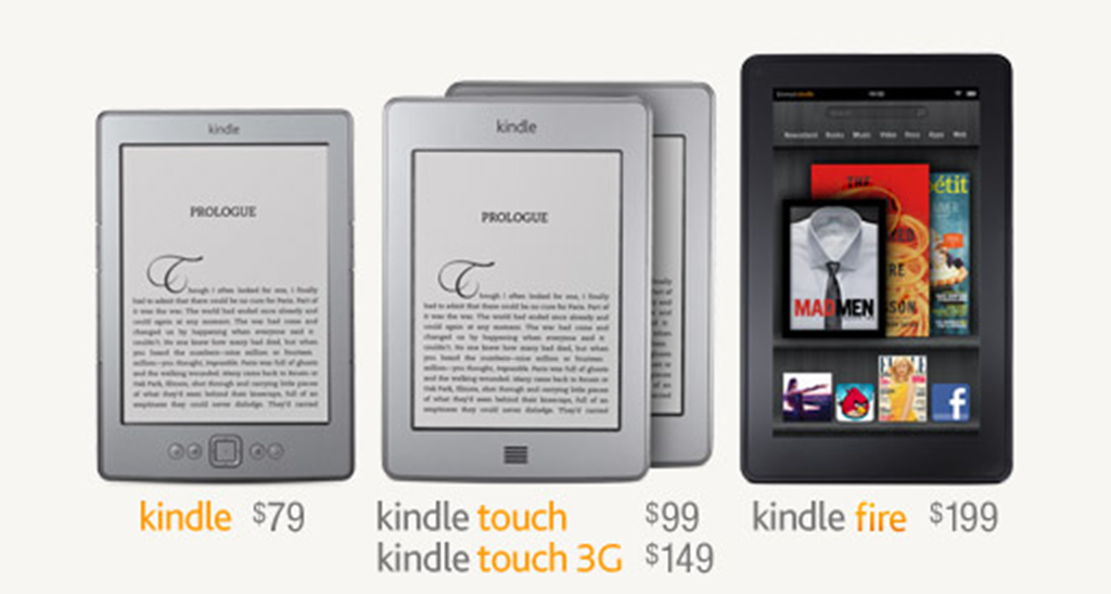 Preorder Amazon Kindle Fire and Kindle Touch