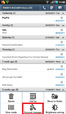 Customize Your Email Account Settings on the Galaxy Tab