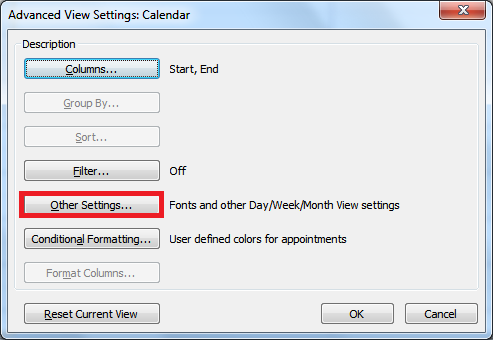 Customize the Outlook 2010 Calendar