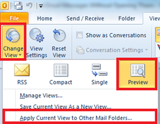 Apply current view to other folders