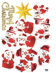 Holiday Time Reusable Wall Decoration Stickers