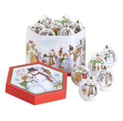 Let It Snow Christmas Holiday Ball Ornaments