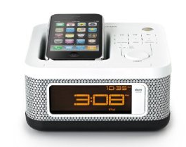 Memorex MI4604P Mini Alarm Clock Radio for iPod and iPhone (White)