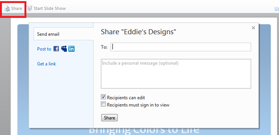 Share Documents on SkyDrive