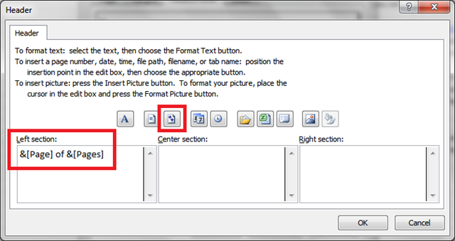 How to Insert Page Numbers in Multiple Worksheets in Excel 2010
