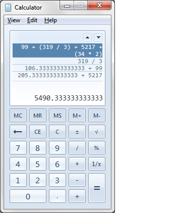 Uses of Windows 7 Calculator