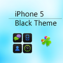 iPhone 5 Black Go Launcher EX