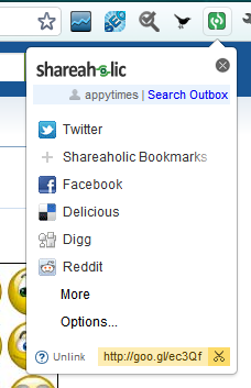 shareaholic icon