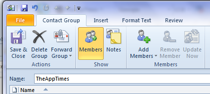 how to create group mailing list