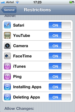How to Restrict Access to iPhone Apps