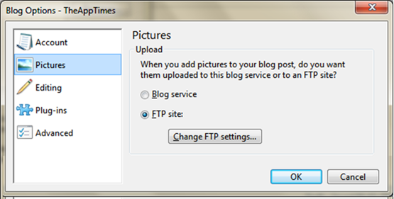 blog options