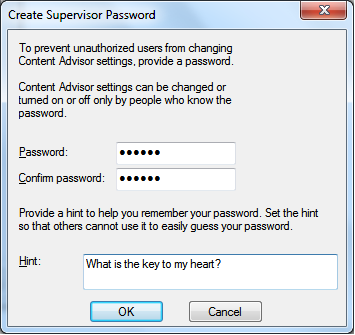 Create Supervisor Password