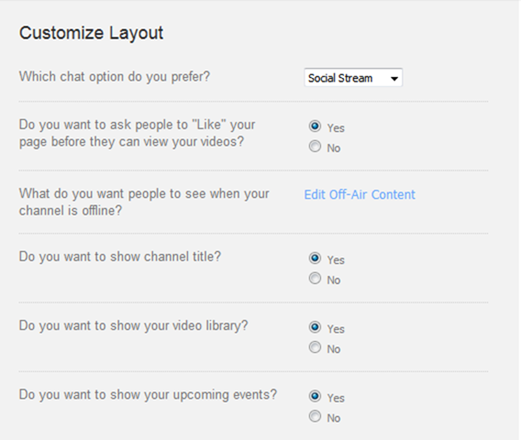 customize layout