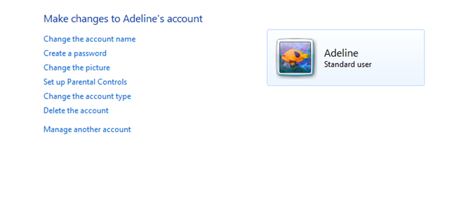 manage user accounts