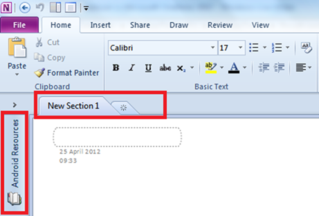 onenote how to add a notebook
