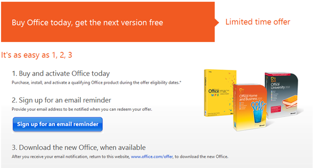 Office 2013 Pre Launch Offer