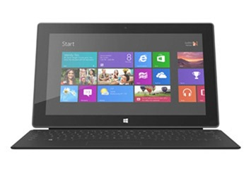 microsoft surface tablet with touch cover