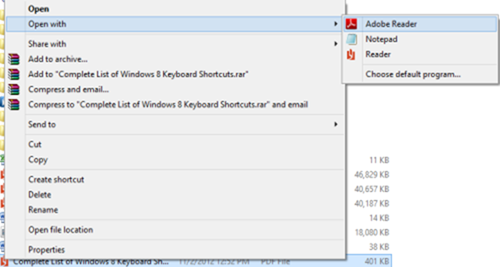 How to Open PDFs in Adobe Reader in Windows 8