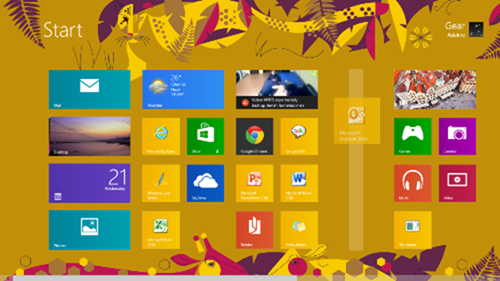 How to Create Groups on Windows 8 Start Screen :drag tiles