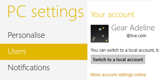 how to switch windows 8 user accounts