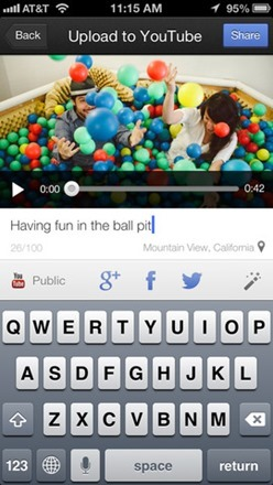 YouTube Video Camera App for iOS