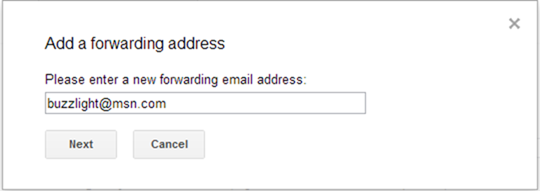 forwarding address - How to Migrate from Gmail to Outlook.com