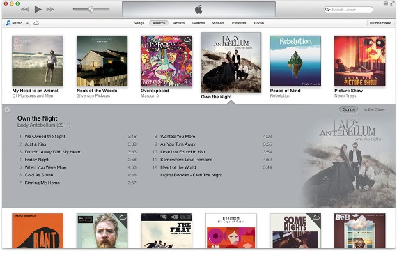 itunes 11 - album view