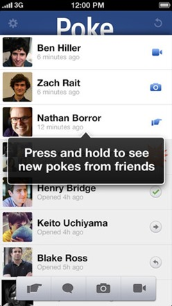 see new pokes from friends