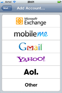 How to Add an Email Account to iPhone ipod touch or iPad