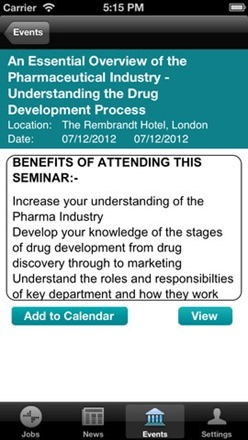 PharmiWeb iphone app