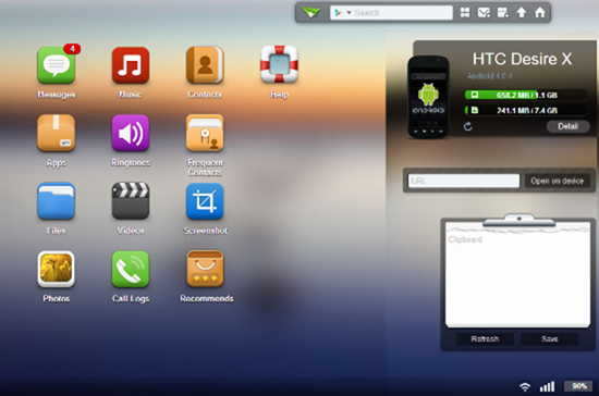 airdroid dashboard